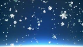 Μειωμένα snowflakes διανυσματική απεικόνιση
