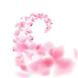 Μειωμένη ροή πετάλων Sakura επίσης corel σύρετε το διάνυσμα απεικόνισης απεικόνιση αποθεμάτων