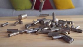 Μειωμένη χρησιμοποιημένη κινηματογράφηση σε πρώτο πλάνο μπαταριών το φιλμ μικρού μήκους