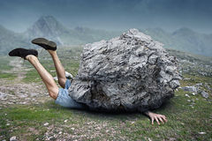 μειωμένοι βράχοι Στοκ Εικόνες