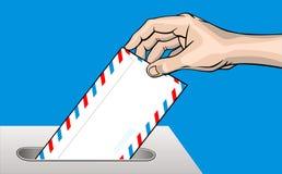 μειωμένος ταχυδρομείο χ& απεικόνιση αποθεμάτων