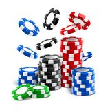 Μειωμένος τσιπ χαρτοπαικτικών λεσχών ή σωρός των σημείων παιχνιδιού απεικόνιση αποθεμάτων