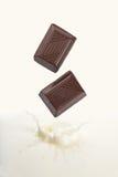 μειωμένο γάλα σοκολάτας Στοκ εικόνες με δικαίωμα ελεύθερης χρήσης