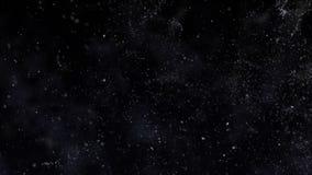 Μειωμένο μαγικό χιόνι Χριστουγέννων σε ένα μαύρο υπόβαθρο Απεικόνιση χειμερινής θύελλας με snowflakes στοκ εικόνες