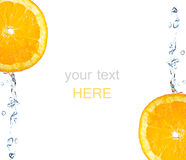 μειωμένο πορτοκαλί ράντισμα φετών Στοκ εικόνες με δικαίωμα ελεύθερης χρήσης