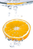μειωμένο πορτοκαλί ύδωρ φ&ep Στοκ φωτογραφία με δικαίωμα ελεύθερης χρήσης