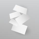 Μειωμένο ρεαλιστικό πρότυπο επαγγελματικών καρτών επίσης corel σύρετε το διάνυσμα απεικόνισης Στοκ Εικόνες