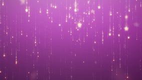 Μειωμένο υπόβαθρο glamor βροχής σπινθηρίσματος για τις οδηγημένες οθόνες η χρυσή πτώση αστεριών και εξαφανίζεται ζωτικότητα με τα απεικόνιση αποθεμάτων