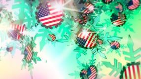 μειωμένο χιόνι ανασκόπησης σημαία ΗΠΑ ελεύθερη απεικόνιση δικαιώματος