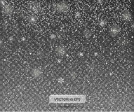 Μειωμένο χιόνι σε ένα διαφανές υπόβαθρο Διανυσματική απεικόνιση 10 eps Αφηρημένη snowflake ανασκόπηση Στοκ φωτογραφία με δικαίωμα ελεύθερης χρήσης