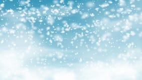 Μειωμένο χιόνι στο υπόβαθρο διακοπών μπλε ουρανού ελεύθερη απεικόνιση δικαιώματος