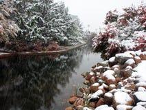 μειωμένο ύδωρ χιονιού Μινε Στοκ φωτογραφία με δικαίωμα ελεύθερης χρήσης