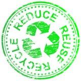 Μειώστε το ανακύκλωσης γραμματόσημο επαναχρησιμοποίησης Στοκ εικόνα με δικαίωμα ελεύθερης χρήσης
