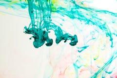 Μελάνια στο νερό, αφαίρεση χρώματος, έκρηξη χρώματος Στοκ εικόνα με δικαίωμα ελεύθερης χρήσης