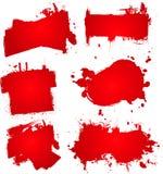 μελάνι αίματος splat Στοκ Φωτογραφία