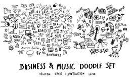 Μελάνι επιχειρησιακών doodles σκίτσων Στοκ Εικόνα