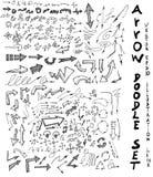 Μελάνι eps10 επιχειρησιακών doodles σκίτσων Στοκ Φωτογραφίες