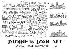 Μελάνι eps10 επιχειρησιακών doodles σκίτσων Στοκ Εικόνα