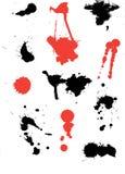 μελάνι splats ελεύθερη απεικόνιση δικαιώματος