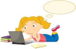 μελέτη κοριτσιών Στοκ Εικόνα