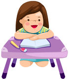 μελέτη κοριτσιών διανυσματική απεικόνιση