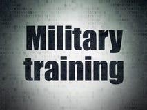 Μελέτη της έννοιας: Στρατιωτική εκπαίδευση στο υπόβαθρο εγγράφου ψηφιακών στοιχείων Στοκ Φωτογραφίες