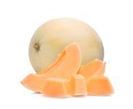Μελίτωμα melonsunlady τη φέτα που απομονώνεται με στο λευκό Στοκ εικόνα με δικαίωμα ελεύθερης χρήσης