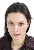 μελαχροινό κορίτσι ομορφιάς μαλλιαρό Στοκ εικόνα με δικαίωμα ελεύθερης χρήσης