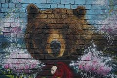 ΜΕΛΒΟΥΡΝΗ, ΑΥΣΤΡΑΛΙΑ - 15 Αυγούστου 2017 - γκράφιτι έργων ζωγραφικής τοίχων murales στις οδούς πόλεων Στοκ εικόνα με δικαίωμα ελεύθερης χρήσης