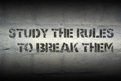 Μελετήστε τους κανόνες στοκ εικόνες