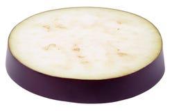 Μελιτζάνας φέτα που απομονώνεται φυτική στο λευκό Στοκ Εικόνες