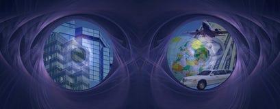μελλοντική επιτυχία ματιών Στοκ εικόνες με δικαίωμα ελεύθερης χρήσης