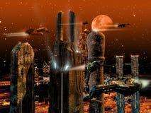 Μελλοντική πόλη Στοκ Εικόνα