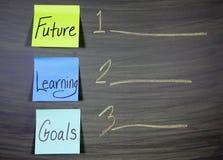 Μελλοντικοί στόχοι εκμάθησης στοκ εικόνες