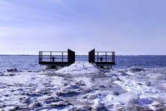 μελλοντικός δρόμος πάγο&ups Στοκ εικόνα με δικαίωμα ελεύθερης χρήσης