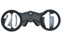 μελλοντικό κοίταγμα 2011 δι&o διανυσματική απεικόνιση