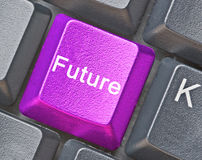 μελλοντικό πλήκτρο Στοκ Φωτογραφίες