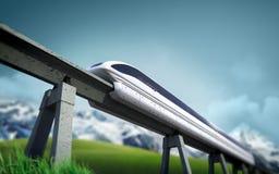 μελλοντικό τραίνο Στοκ Φωτογραφίες