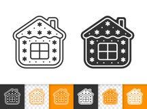 Μελοψωμάτων μπισκότων διανυσματικό εικονίδιο ιδιωτικών πυροσβεστικών σωλήνων μαύρο ελεύθερη απεικόνιση δικαιώματος
