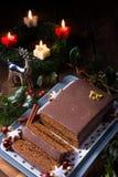 Μελόψωμο σοκολάτας με την πλήρωση Στοκ Εικόνες