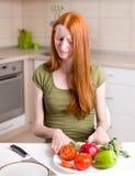 Μεμβρανοειδές κορίτσι που αρνείται τα τρόφιμα Στοκ φωτογραφίες με δικαίωμα ελεύθερης χρήσης
