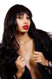 Μεμβρανοειδές ξεφλουδισμένο φως γυμνό στήθος μαύρων γυναικών στοκ φωτογραφίες