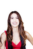 Μεμβρανοειδής ισπανική κόκκινη κορυφή πορτρέτου χαμόγελου γυναικών Στοκ Φωτογραφία