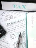 Μεμονωμένη φορολογική μορφή 1040 Στοκ εικόνα με δικαίωμα ελεύθερης χρήσης