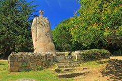 Μενίρ Άγιος Uzec, Βρετάνη, Γαλλία διανυσματική απεικόνιση