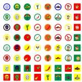 Μεξικάνικα εικονίδια καθορισμένα Στοκ φωτογραφία με δικαίωμα ελεύθερης χρήσης