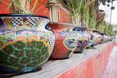 Μεξικάνικα δοχεία λουλουδιών Στοκ φωτογραφία με δικαίωμα ελεύθερης χρήσης