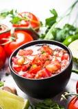 Μεξικάνικα τρόφιμα σάλτσας Salsa στοκ φωτογραφίες με δικαίωμα ελεύθερης χρήσης