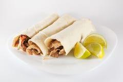 Μεξικάνικα τρόφιμα του Πουέμπλα Μεξικό Tacos arabes Στοκ Εικόνες