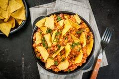Μεξικάνικα τρόφιμα, τσίλι con carne Στοκ Εικόνα
